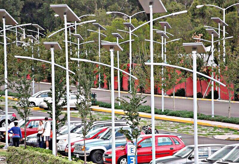 luminarias postes solares para alumbrado publico